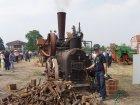 Locomobile a vapore FARQHUAR alla trebbia del Sig. Ferro Renato Bosconero (TO)